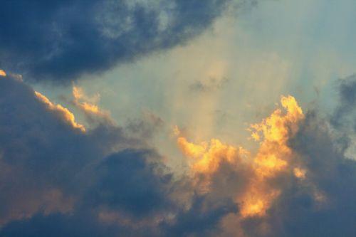 Fiery Clouds At Sundown