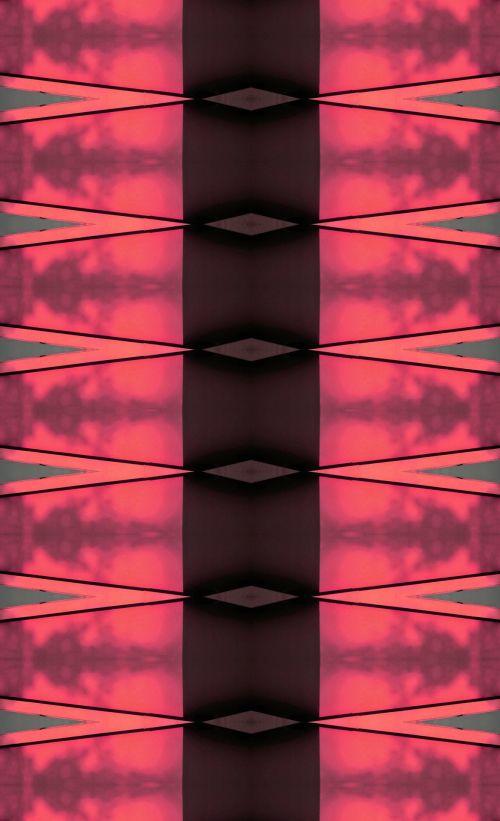 Fiery Coloured Wedge Pattern