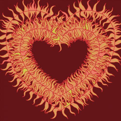 Fiery Red Heart