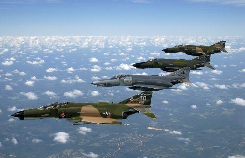 fighter jet air force phantom ii