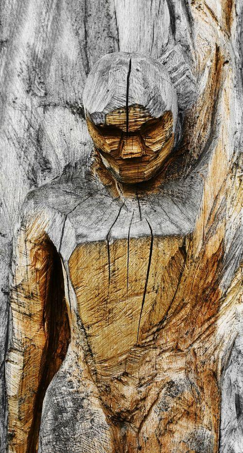 figure sculpture carved