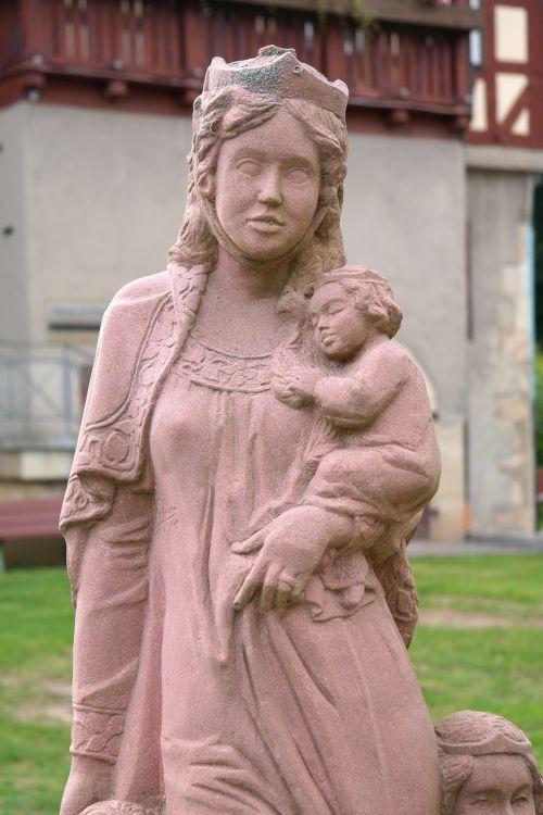 figure stone figure woman