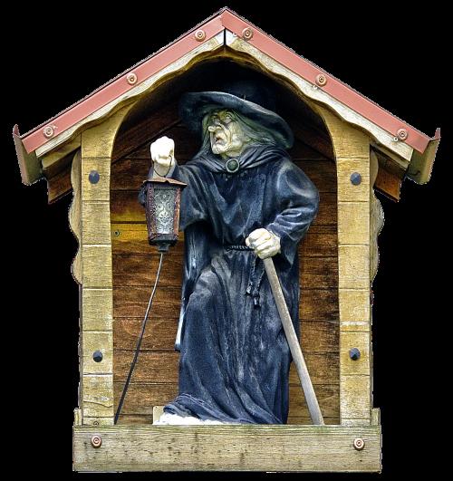 figure monk lantern