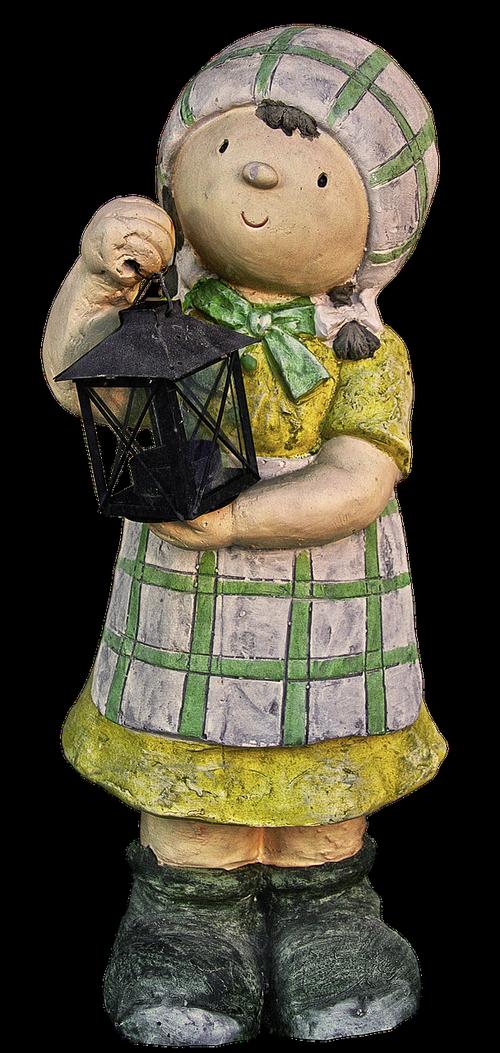 figure  girl  lantern