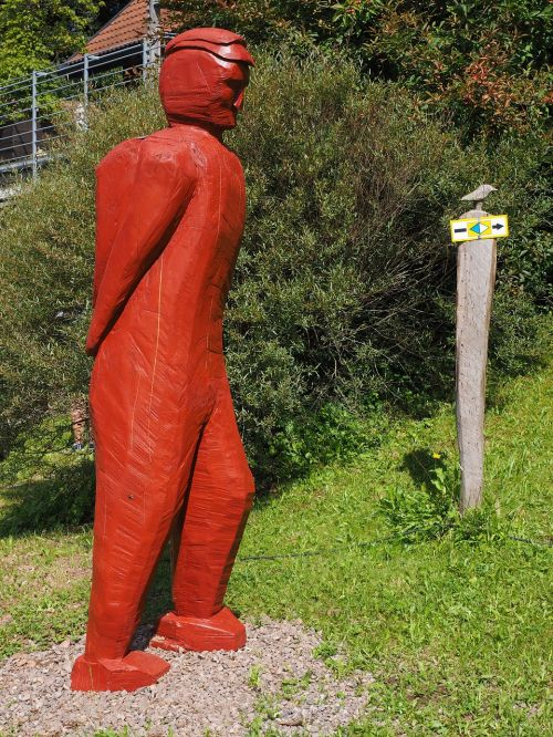 figure wood man