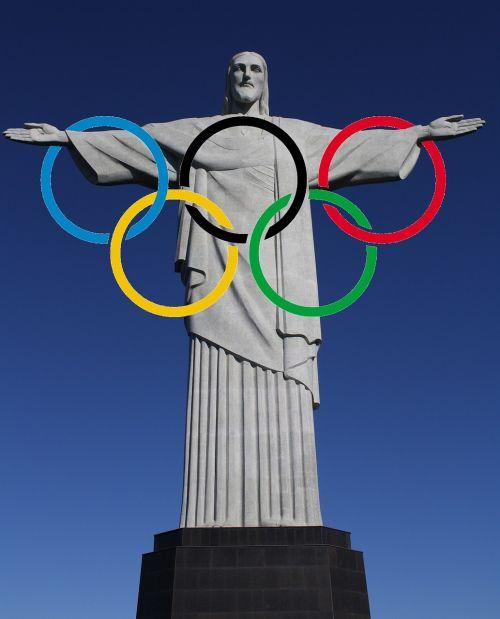 figure of christ olympic rings rio de janeiro