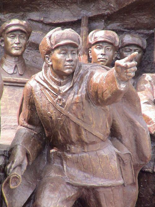 figures cast iron sculpture