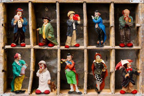 figures clown porcelain