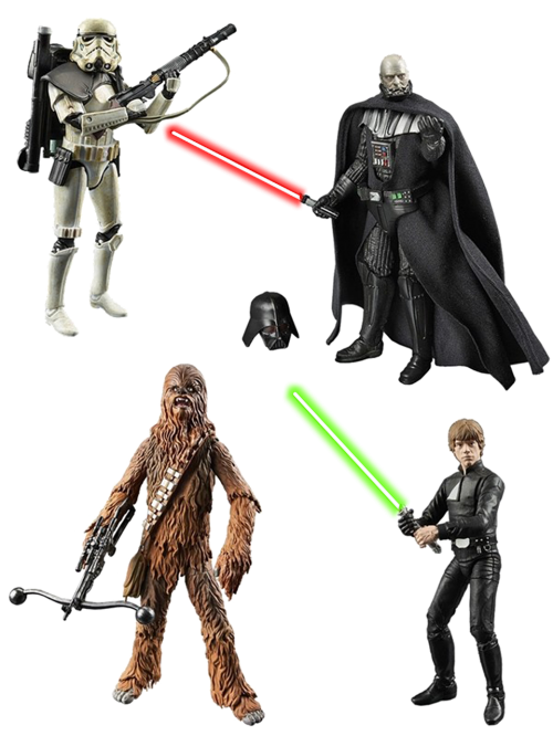 figures star wars isolated
