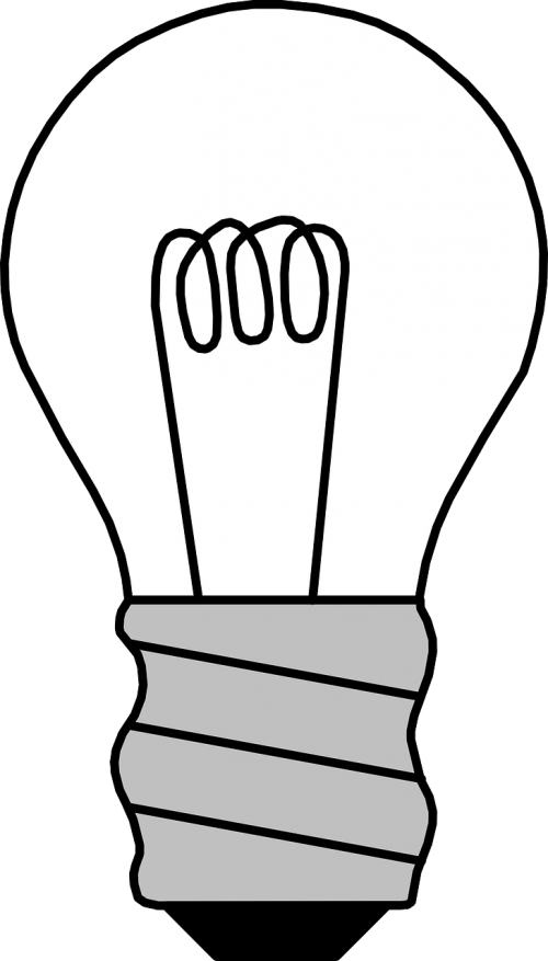filament light bulb off