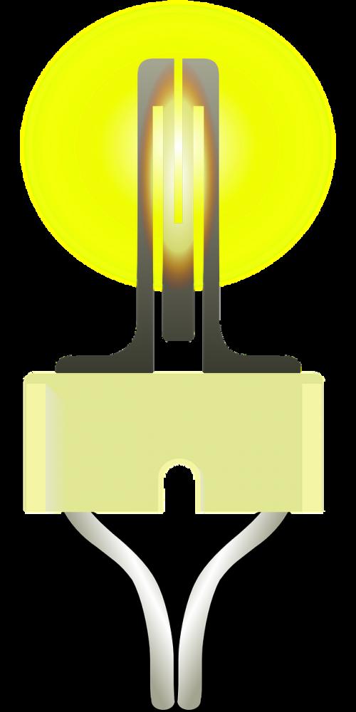 filament glow wire light bulb
