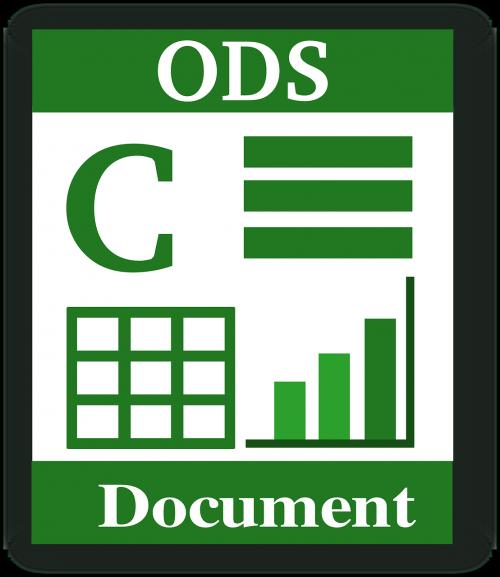 file type ods spreadsheet