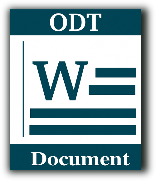 file type odt text document