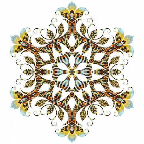 Filigree Snowflake 4