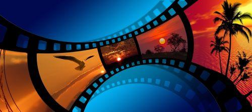 film sunset landscape