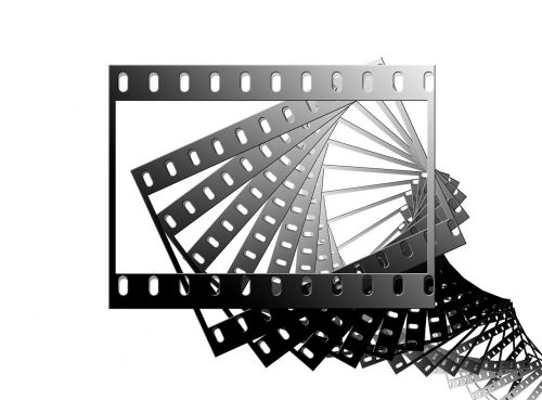 film filmstrip black and white