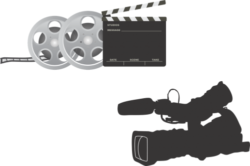 film equipment camera clapperboard