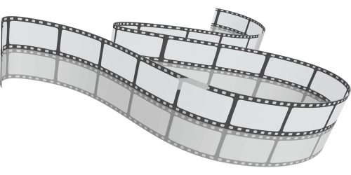 filmstrip cinema stripes