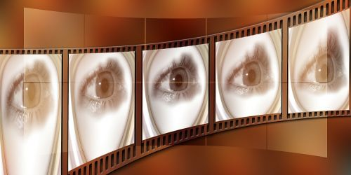 filmstrip eye cinema strip