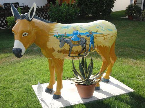 finches donkey art haeslach