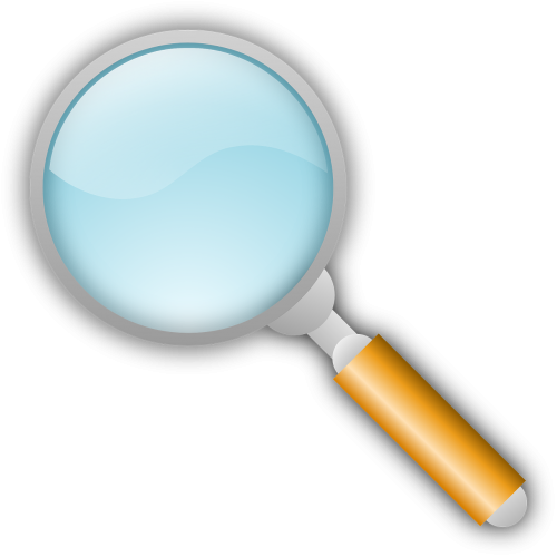 find glass magnifying glass
