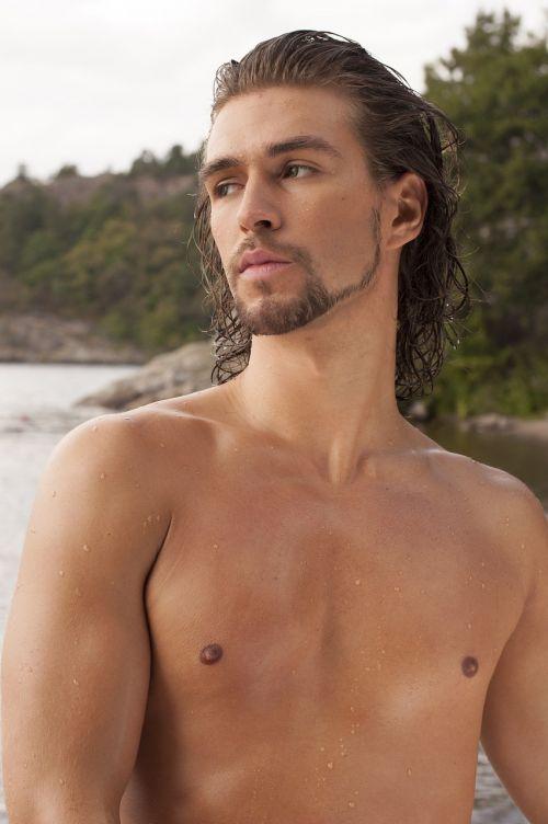 fine-looking man shirtless