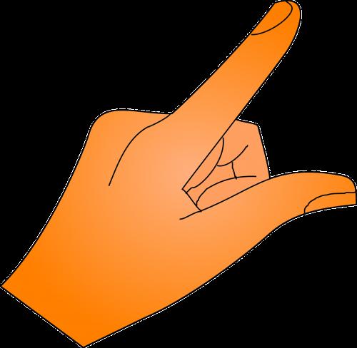 finger hand show