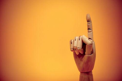 finger forefinger gesture