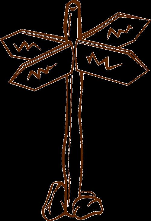 fingerpost guidepost crossroads