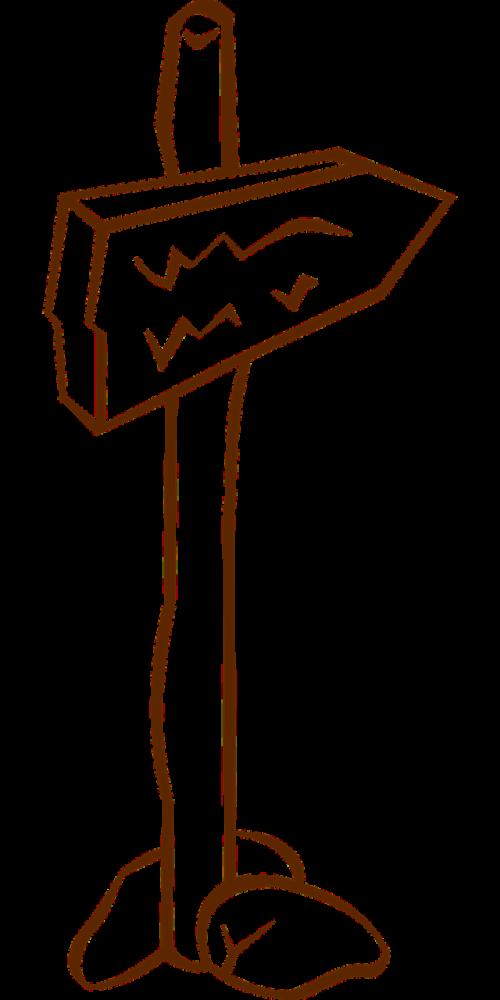 fingerpost guidepost direction