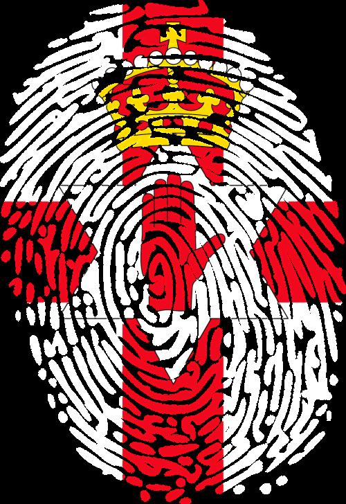 fingerprints flag north ireland
