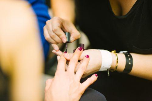 fingers hands manicurist