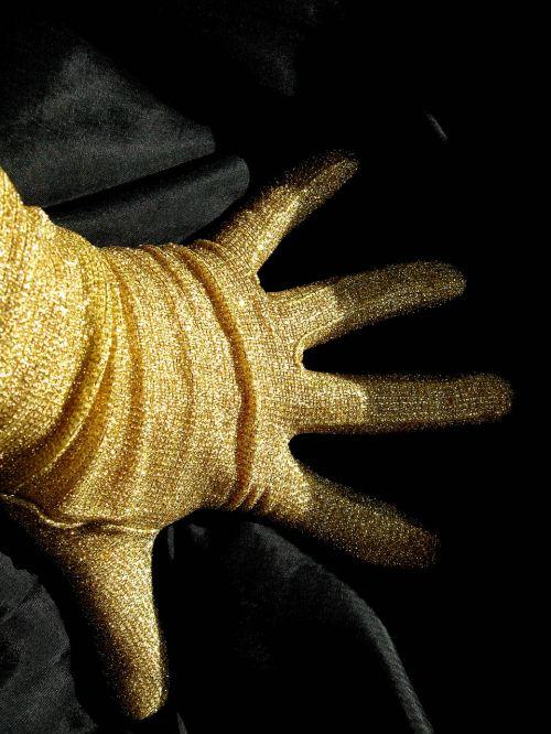 fingers glove gold
