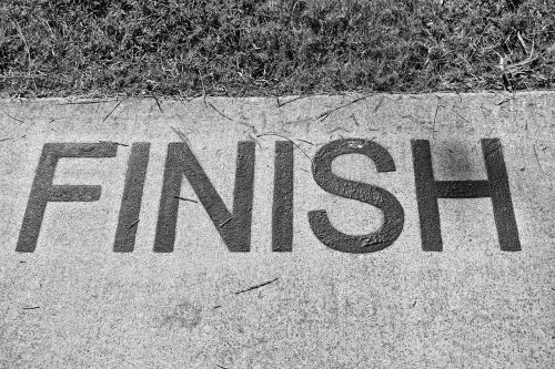 finish end completed
