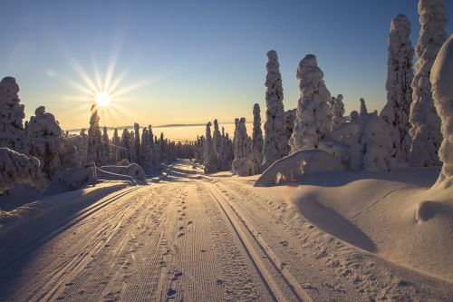 finland lapland wintry