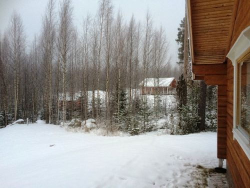 finland snow dacha