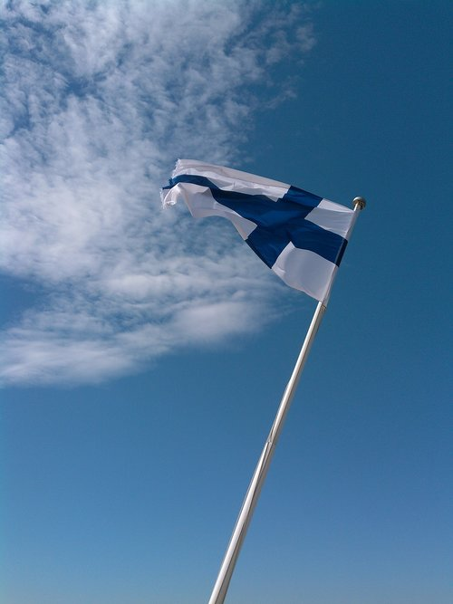 finland  flag  flagpole