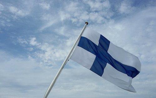 finland  flag  sky