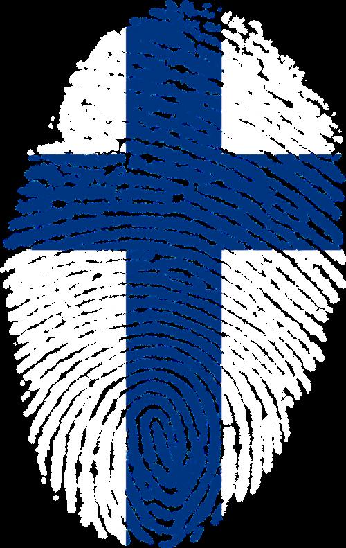 finland flag fingerprint