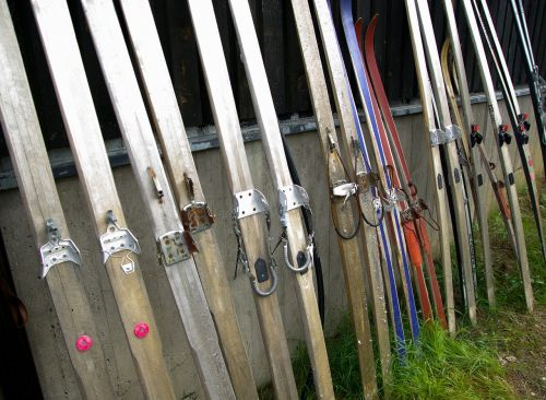 finland wooden skis collection