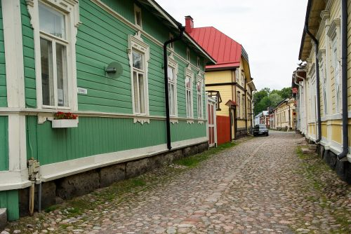 finland rauma wooden houses