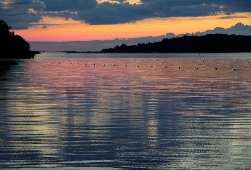 finland baltic sea midnight sun