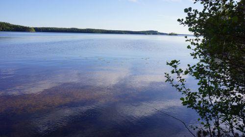 finnish lake beach
