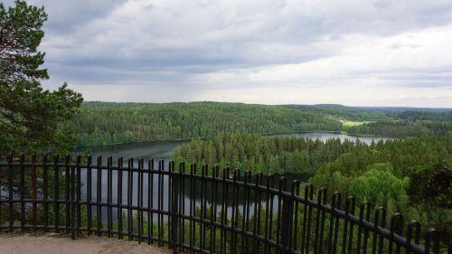 finnish landscape lake