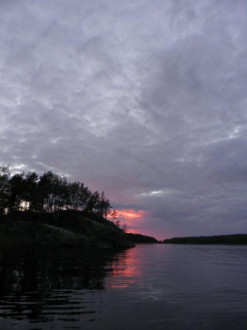 finnish saimaa sunset