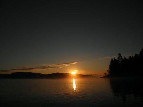 finnish savonlinna lake in finland