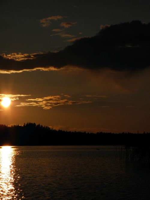 finnish savonlinna sunset