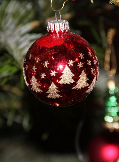 fir ball christmas bauble christmas tree