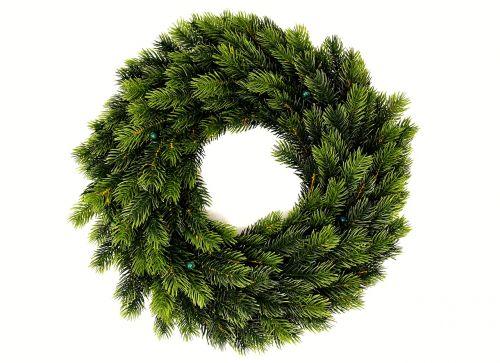 fir wreath holly wreath