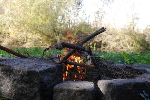 fire barbecue campfire